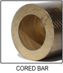 C83600 Leaded Red Brass Cored Bar