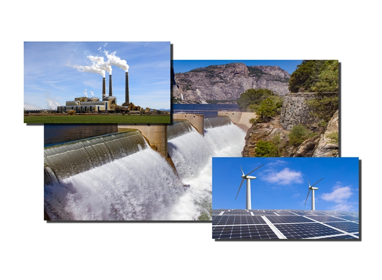 Hydro Electric Plant, Solar Power Plant, Natural Gas Electric Plant