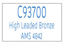 C93700 High Leaded Tin Bronze Information Page